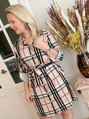Burberry print dress