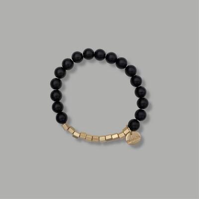 Zwart Met Goud Armband