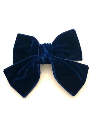 Meia Pata Grote velvet haarstrik - blauw