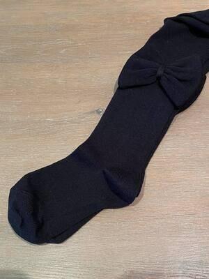 Meia Pata Kousenbroek met grote strik opzij - zwart