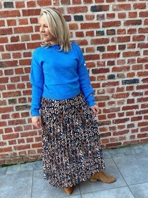 Hailey blue print skirt