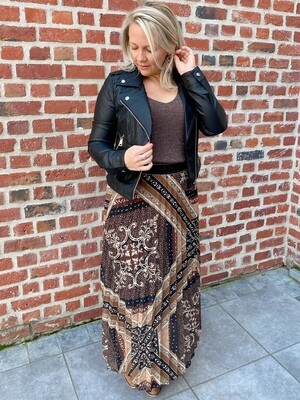 Hailey camel skirt