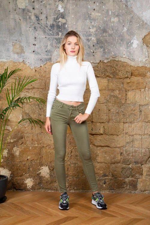 TOXIK jeans cotton khaki