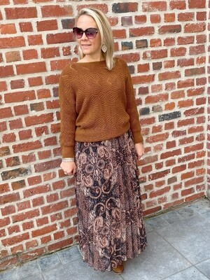 Hailey camel print skirt