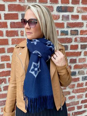 Trendy Sjaal blauw