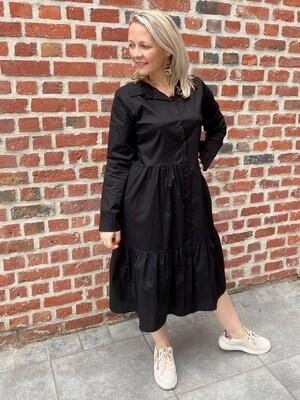 Chemise dress zwart