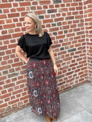 Hailey print skirt