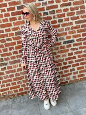 Printed chemise dress