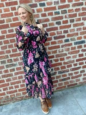 Autumn dress fuchsia