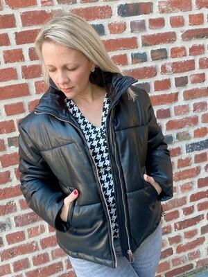 Leather bomberjacket