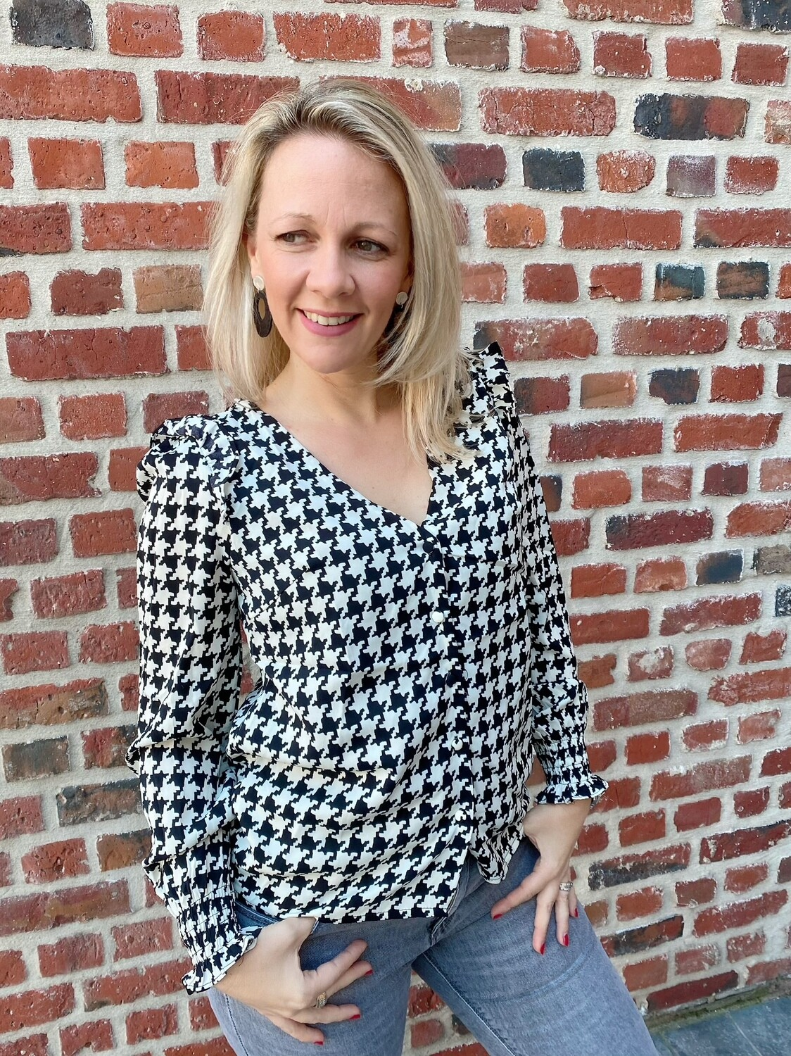 Jolie checked blouse