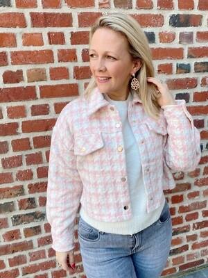 Zoë trendy checked jasje pink/white
