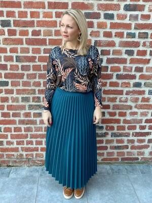 Petrol blue trendy skirt
