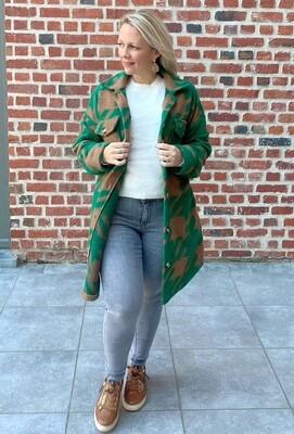 Checked green mantel