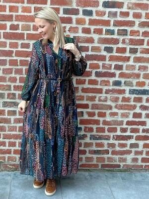Lovely colour dress met riempje
