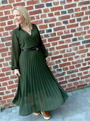 The green autumn dress met riempje