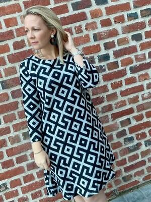 Canvas sweater dress