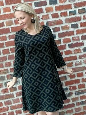 Canvas khaki sweater dress