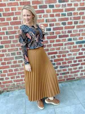 Camel trendy skirt