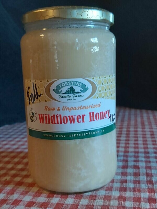 Raw, unpasteurized  Honey 1kg