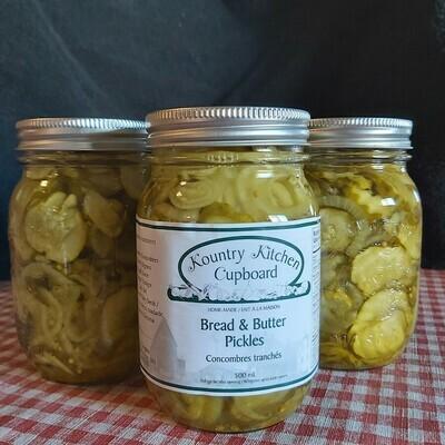Bread & Butter Pickles - 500 ml - Kountry Kitchen Cupboard