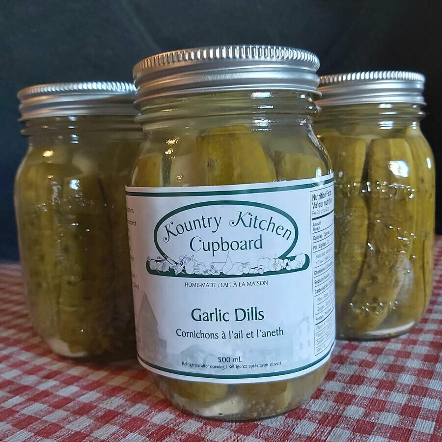 Garlic Dills - 500 ml - Kountry Kitchen Cupboard