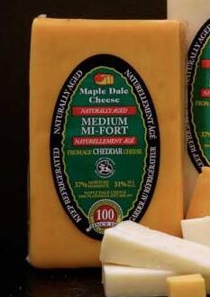 Maple Dale - Medium Orange Cheddar - 250g