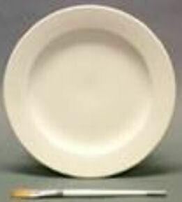 """Rimmed Dinner Plate, 9.75"""""""