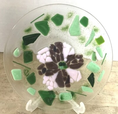 """6"""" Round Fused Glass Plate"""