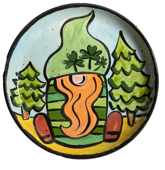 Lucky Gnome Plate