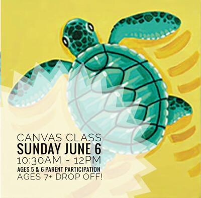 Canvas Class: Sea Turtle
