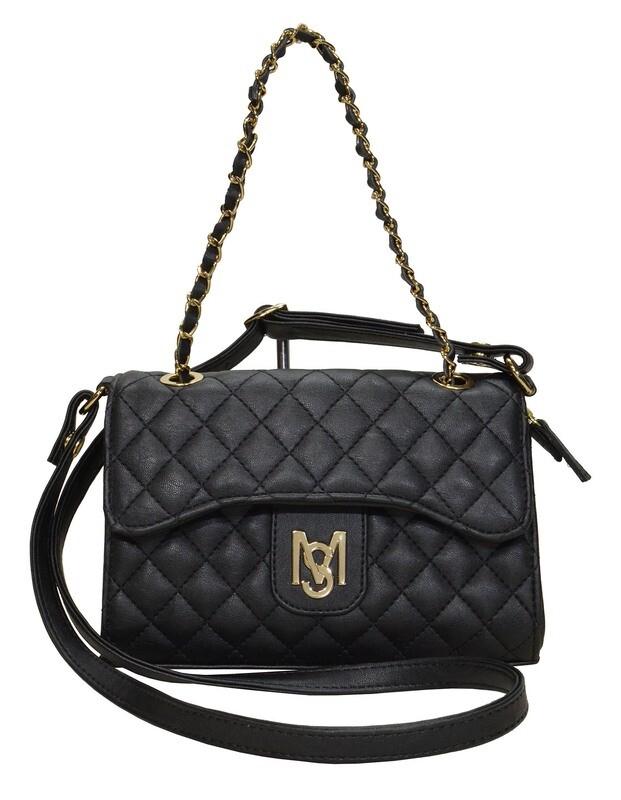Handtas-Monica Sanches Adorra Black (Lengte 22 cm Hoogte 15 cm)
