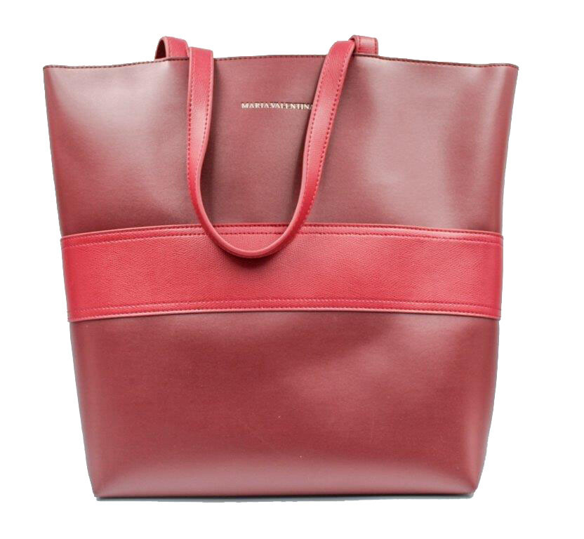 Handtas-Maria Valentina Shopping Bordo (Lengte 45 cm Hoogte 35 cm)