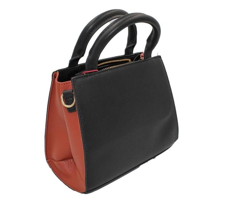 Handtas-Morena Rosa Mini Tote Frontal Black (Lengte 10 cm Hoogte 16 cm)