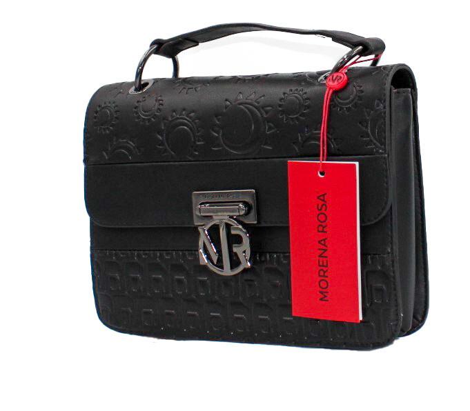 Handtas-Morena Rosa Media Texturizado Black (Lengte 25 cm Hoogte 20 cm)