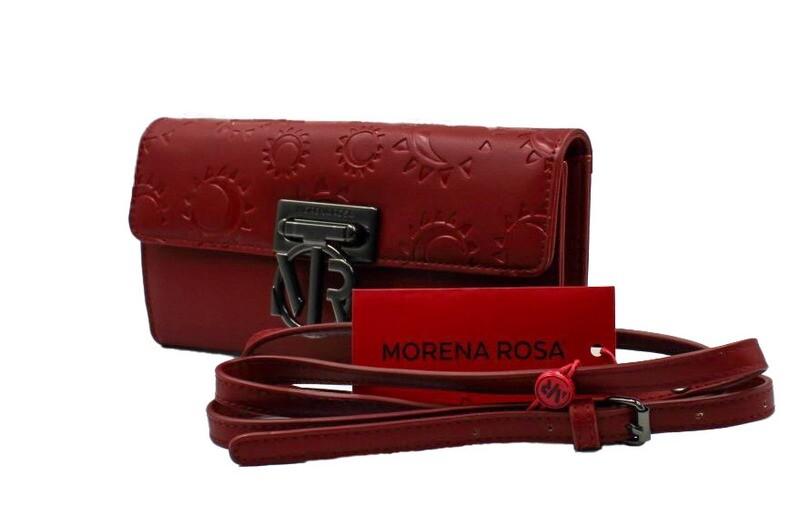 Schoudertas-Morena Rosa Carteira Texturizada Bordo (Lengte 22 cm Hoogte 12 cm)