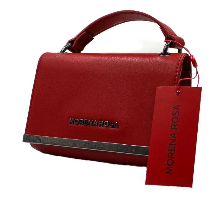 Handtas-Morena Rosa Mini  Metal Red (Lengte 18 cm Hoogte 12 cm)