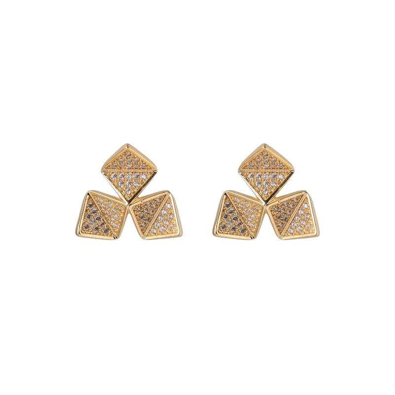 Oorbellen zirconia triangulos
