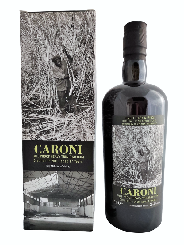 Caroni - 17y Vintage 2000 Single cask R4008 Velier for the whisky exchange - 70 cl - 70.4%