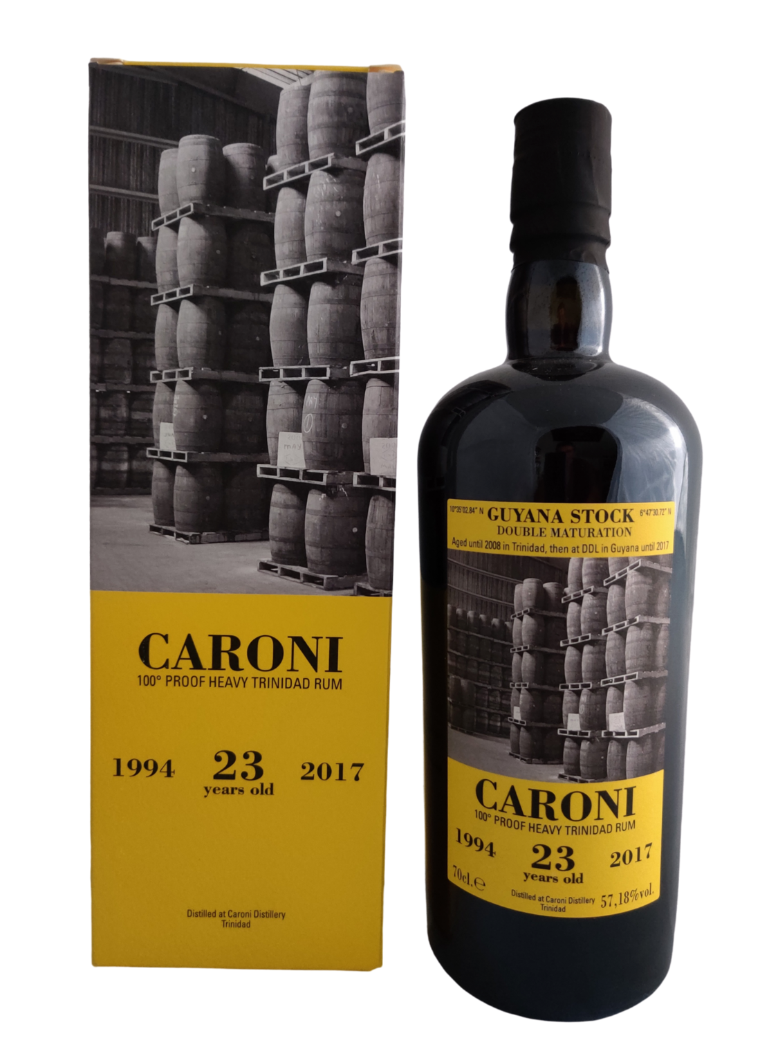 Caroni - 23Y Vintage 1994 For Velier - Guyana Stock - 36th Release  - 70 cl - 57.18%