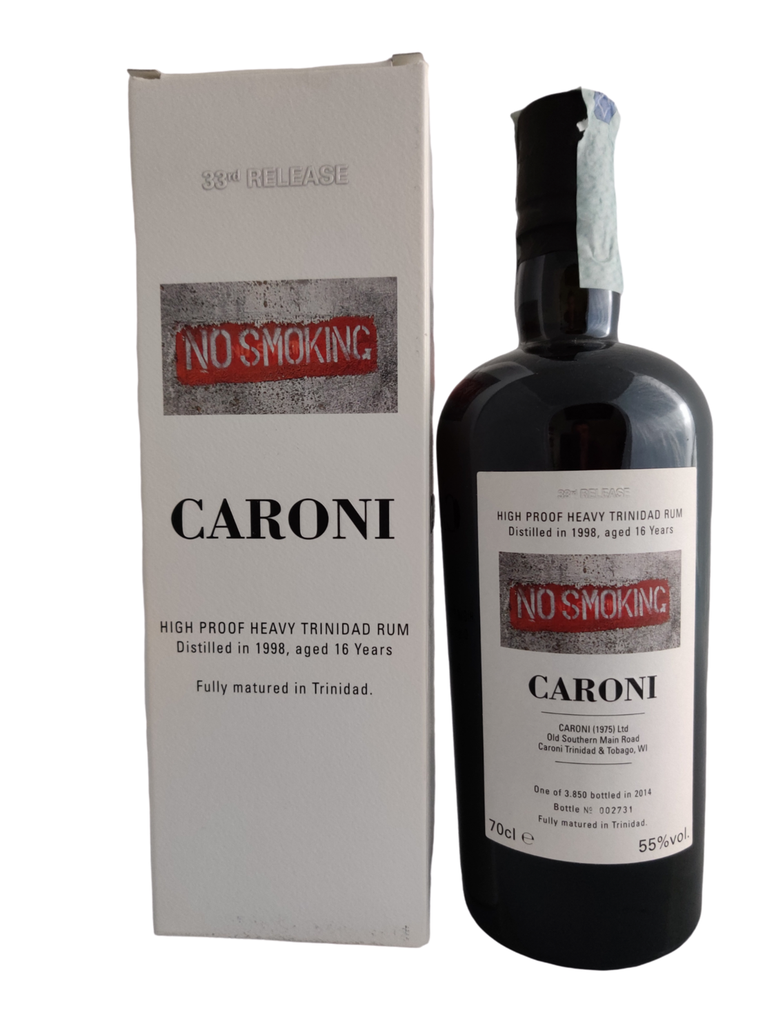 Caroni  - 16Y Vintage 1998 No Smoke High Proof Heavy 33th Release Velier - 70 cl - 55%