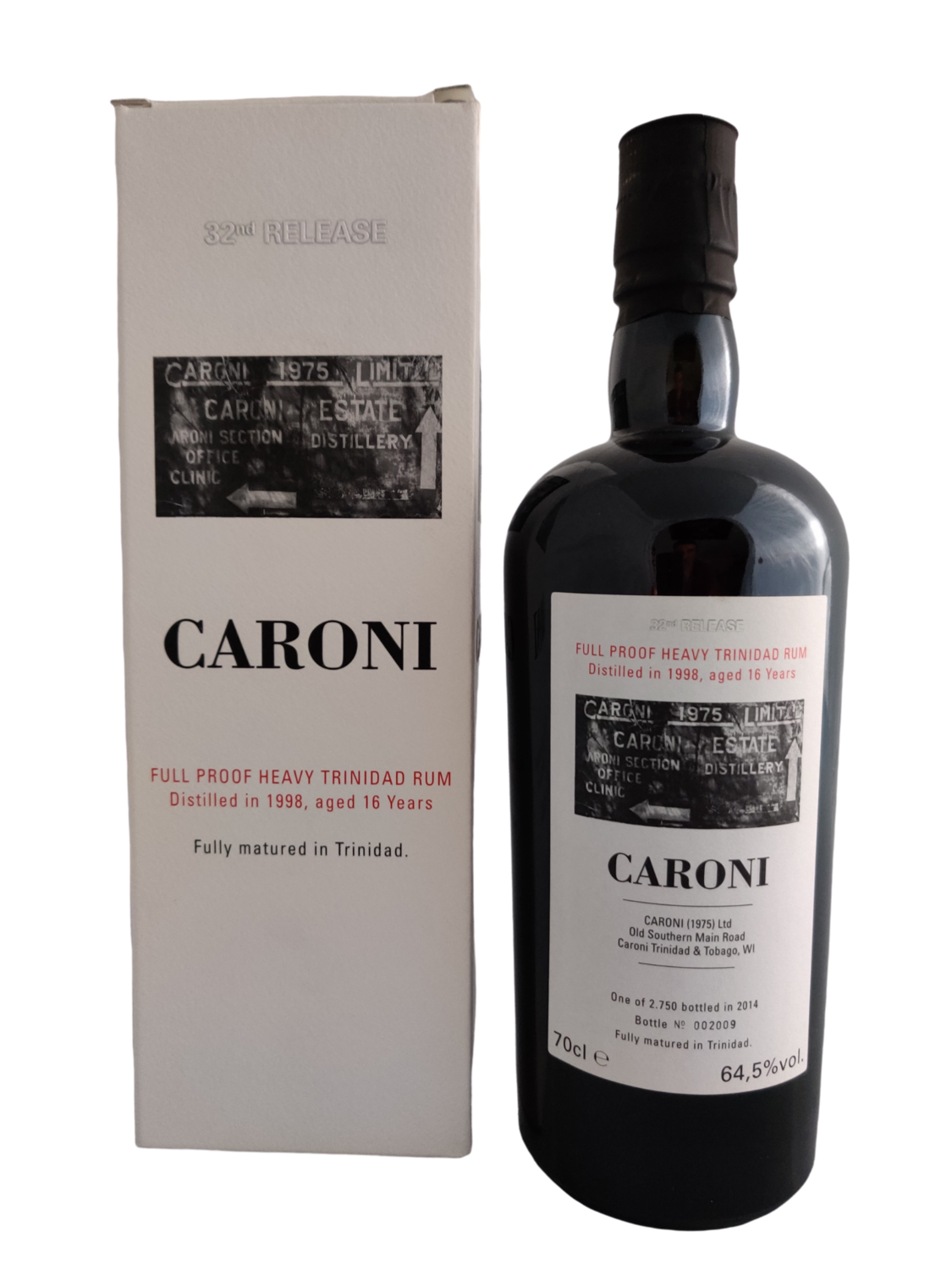 Caroni  - 16Y Vintage 1998 Full Proof Heavy 32nd Release Velier - 70 cl - 64.5%