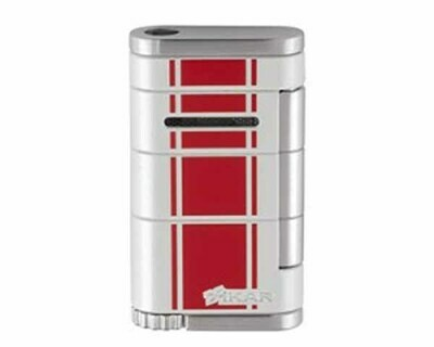 Aansteker Xikar 532Whrd Allume Single White W Red Stripe