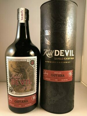 Kill Devil Single Cask strenght Rum Guyana aged 15 years 57,1°