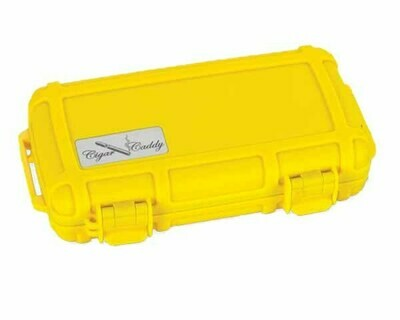 CIGAR CADDY TRAVEL HUMIDOR HUM-CC5-YE 5 CIGARS YELLOW