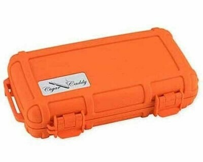 CIGAR CADDY TRAVEL HUMIDOR HUM-CC5-OR 5 CIGARS ORANGE