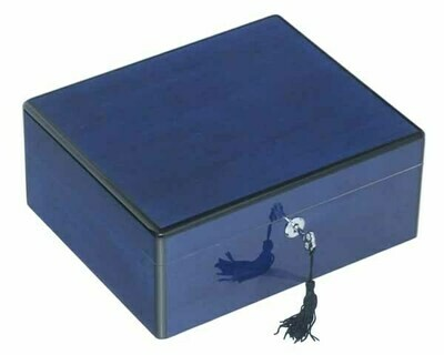 HUMIDOR LUBINSKI Q44504 BLUE HIGH POLISH 50 SIGAREN