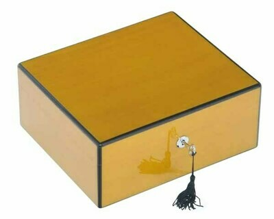 HUMIDOR LUBINSKI Q44502 YELLOW HIGH POLISH 50 SIGAREN