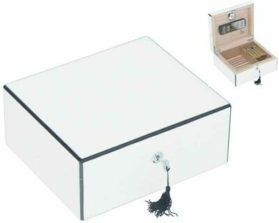 HUMIDOR LUBINSKI Q44501 WHITE HIGH POLISH 50 SIGAREN