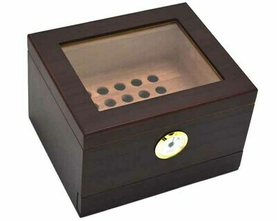 HUMIDOR CB-32 DARK CHERRY WITH DRAWER 25.7x22x16.3cm